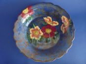 Large Royal Doulton 'Wild Rose' Lotus Rim Fruit Bowl D6227 c1950 (Sold)
